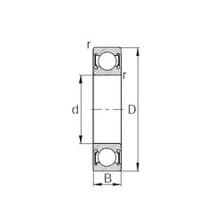 CYSD W6303-2RS deep groove ball bearings