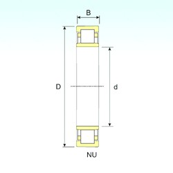 ISB NU 1056 cylindrical roller bearings