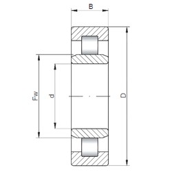 ISO NU212 cylindrical roller bearings