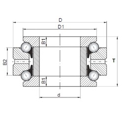 ISO 234456 thrust ball bearings