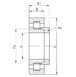 ISO NH2306 cylindrical roller bearings