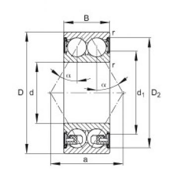 FAG 3205-BD-2Z-TVH angular contact ball bearings