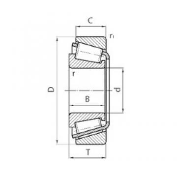 CYSD 32011*2 tapered roller bearings