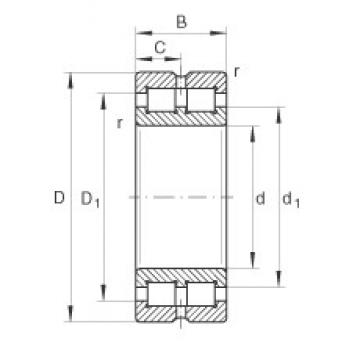 INA SL014944 cylindrical roller bearings