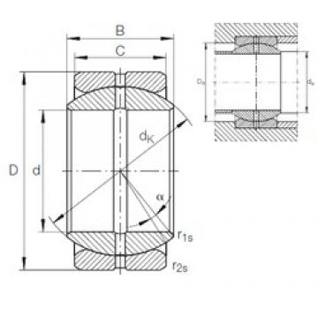 INA GE 25 ZO plain bearings