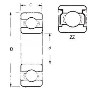 FBJ 6803ZZ deep groove ball bearings