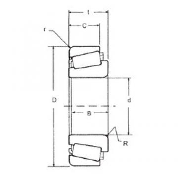 FBJ 598A/592A tapered roller bearings
