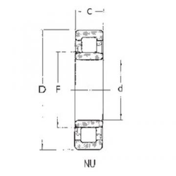 FBJ NU1009 cylindrical roller bearings