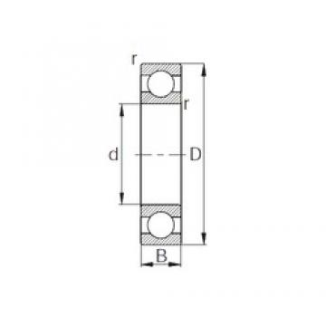 CYSD 6840 deep groove ball bearings