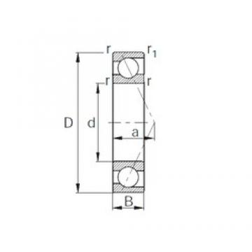 CYSD 7211B angular contact ball bearings