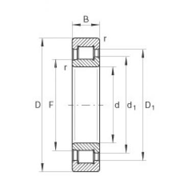 INA SL192334-TB cylindrical roller bearings