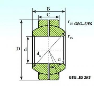 ISB GEG 15 ES 2RS plain bearings