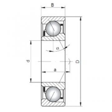 ISO 7308 A angular contact ball bearings