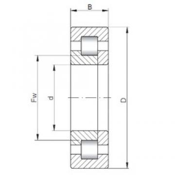 ISO NUP224 cylindrical roller bearings