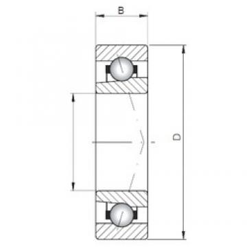 ISO 71926 A angular contact ball bearings