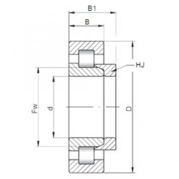 ISO NH252 cylindrical roller bearings