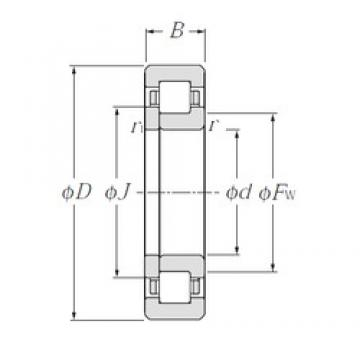 CYSD NUP214E cylindrical roller bearings