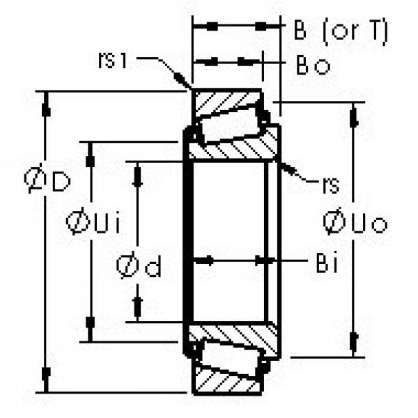 AST HM807048/HM807010 tapered roller bearings #2 image