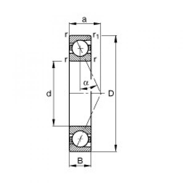 FAG B7205-E-T-P4S angular contact ball bearings #2 image