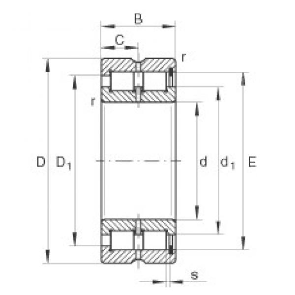 INA SL185005 cylindrical roller bearings #2 image