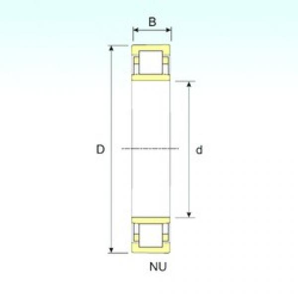 ISB NU 1056 cylindrical roller bearings #1 image